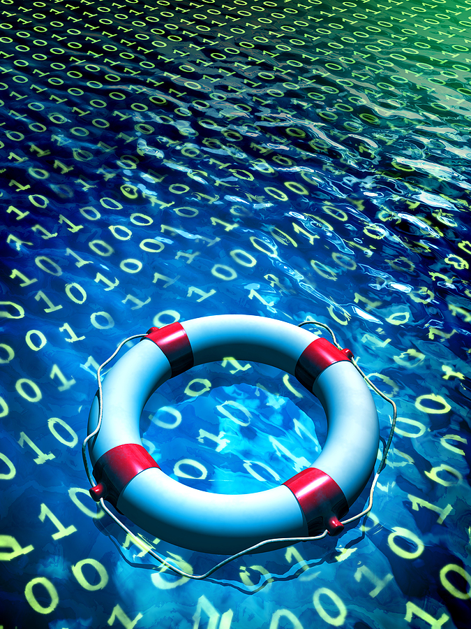 bigstock-Lifesaver-floating-in-a-binary-12120092